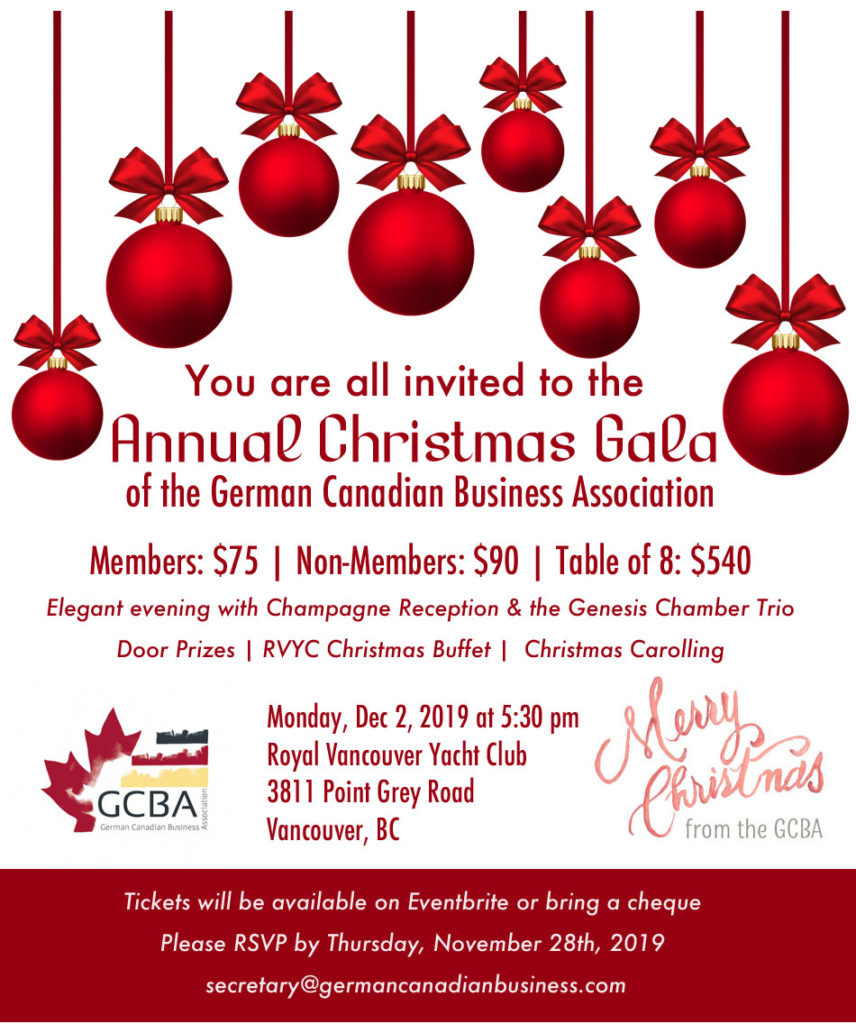 GCBA Christmas Invitation